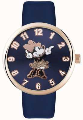 Disney Adult ミニマウスローズゴールドケースブルーストラップ MN1471