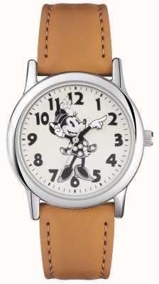 Disney Adult ミニーマウスシルバーケースタンストラップ MN1550