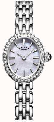 Rotary 女子ステンレスカクテル腕時計母の真珠 LB05050/07