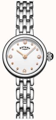 Rotary 女性のエレガントなステンレス鋼のカクテル腕時計 LB05052/02
