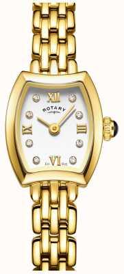 Rotary レディースゴールドメッキカクテルウォッチ LB05055/01