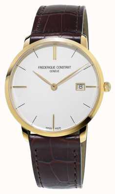 Frederique Constant メンズスリムラインブラウンレザーストラップ FC-220V5S5