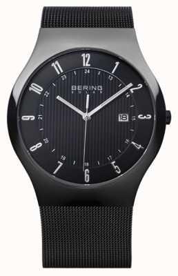 Bering メンズソーラーミラニアブラックメッシュストラップ 14640-222