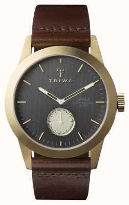 Triwa メンズアッシュスパラブラウンレザー SPST101-CL010413