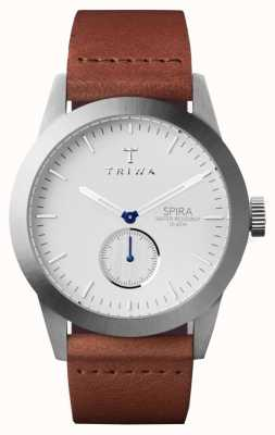Triwa メンズアイボリースパラブラウンレザー SPST102-CL010212