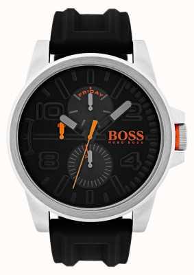 Hugo Boss Orange デトロイトブラックラバーデイト表示 1550006