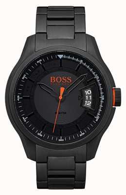 Hugo Boss Orange 香港の黒のステンレススチールの時計 1550005