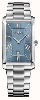 Hugo Boss メンズステンレススチールブレスレットブルーダイヤルメンズ 1513438