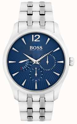 Boss メンズコマンダーステンレススチールブレスレットブルーダイヤル 1513492
