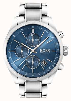 Boss メンズグランプリステンレススチールブルーダイヤル 1513478