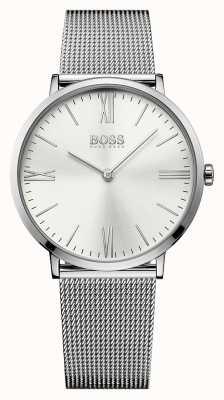 Hugo Boss メンズジャックソンステンレスメッシュストラップシルバーダイヤル 1513459