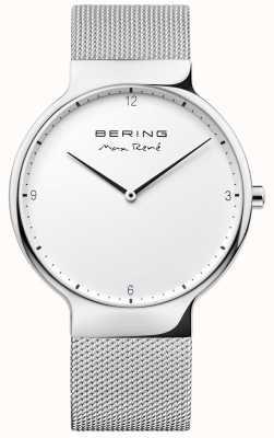 Bering Mens maxrené交換可能メッシュストラップシルバー 15540-004