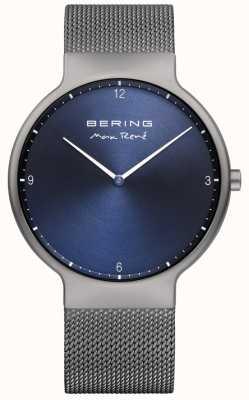 Bering Mens maxrené交換可能なメッシュストラップグレー 15540-077
