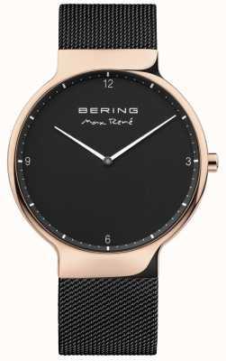 Bering Mens maxrené交換可能なメッシュストラップブラック 15540-262