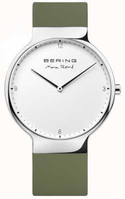 Bering Mens maxrené交換可能なグリーンラバーストラップ 15540-800