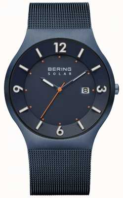 Bering メンズソーラーブルーミラノメッシュストラップ 14440-393