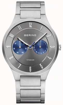 Bering メンズチタングレークロノグラフウォッチ 11539-777