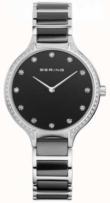 Bering レディースブラックセラミックジルコニアセットウォッチ 30434-742
