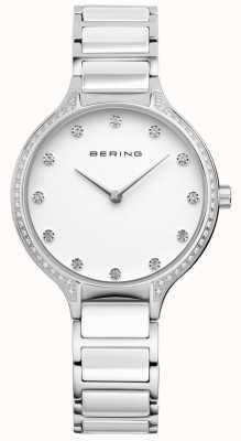 Bering レディースホワイトセラミックジルコニアセットウォッチ 30434-754