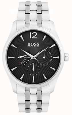 Hugo Boss メンズ指揮官ステンレススチールブラックダイヤル 1513493