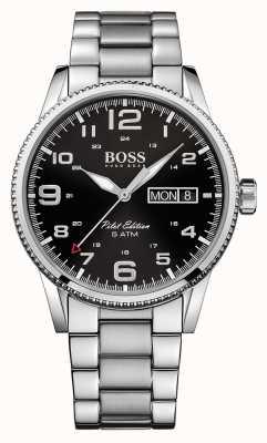 Hugo Boss 紳士パイロットヴィンテージステンレススチール時計 1513327