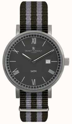 Smart Turnout 郡の腕時計 - 黒とナトストラップ STK1/BK/56/W