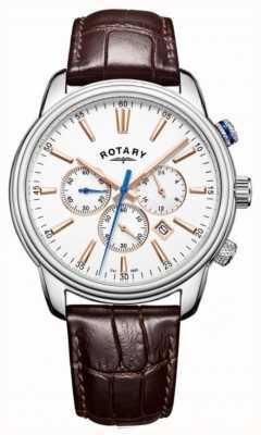 Rotary メンズモナコスポーツクロノグラフホワイト GS05083/06