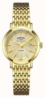 Rotary 女子ウィンザーゴールドメッキブレスレット LB90156/03