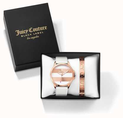 Juicy Couture レディースファーギーホワイトバラゴールドバングルウォッチギフトセット 1950007