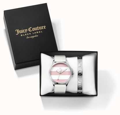 Juicy Couture レディースファーギーホワイトシルバーバングルと時計ギフトセット 1950009