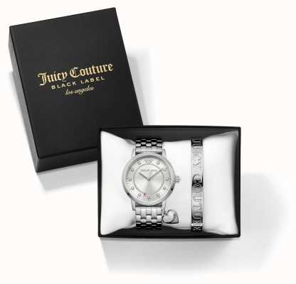 Juicy Couture レディースシルバーバングルと時計ギフトセット 1950010