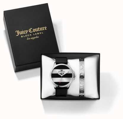 Juicy Couture 女の子jetsetterブラックシルバーバングルと時計ギフトセット 1950011