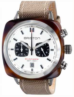 Briston メンズclubmasterスポーツアセテートのカメのシェルクロノホワイト 15142.SA.TS.2.LSK