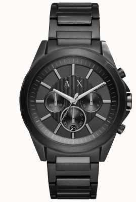 Armani Exchange メンズブラック鉄メッキ鋼 AX2601