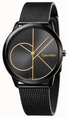 Calvin Klein メンズ最小限の黒ステンレスメッシュ K3M214X1