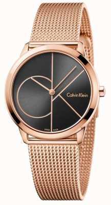 Calvin Klein レディースミニマルローズゴールドメッシュストラップ K3M22621