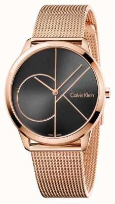 Calvin Klein ブラックメッシュミニメッシュローズゴールドメッシュ K3M21621
