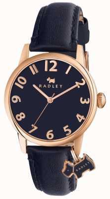 Radley レディースリバプールストリートネイビーレザーストラップ RY2456