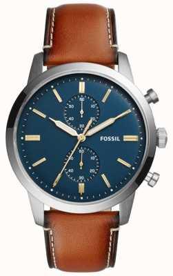 Fossil メンズタウンズマンクロノグラフブラウンレザー FS5279