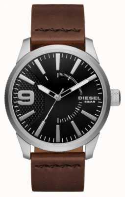 Diesel メンズラスプブラックとステンレススチール DZ1802