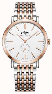 Rotary メンズウィンザーツートーンホワイトダイヤル GB90191/01