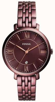 Fossil レディースジャケットステンレススチール ES4100