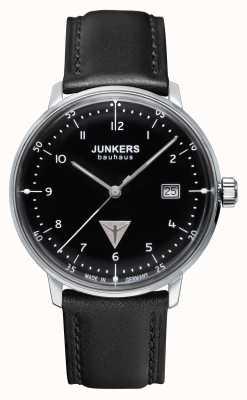 Junkers ブラックメンズバウハウスブラックレザーストラップ 6046-2