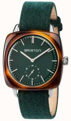Briston メンズclubmasterヴィンテージグリーンファブリックストラップグリーンダイヤル 17440.SA.TV.16.LFBG