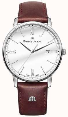 Maurice Lacroix Elirosメンズブラウンレザーストラップウォッチ EL1118-SS001-113-1
