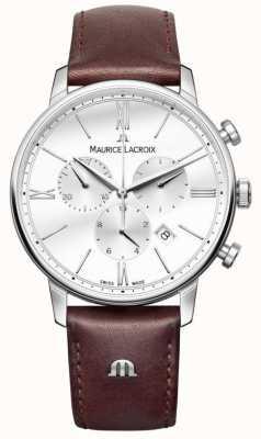 Maurice Lacroix Eliros mensクロノグラフレザーレザー EL1098-SS001-112-1
