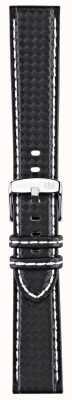 Morellato ストラップのみ - バイクテクノテクノブラック/ホワイト18mm A01U3586977817CR18