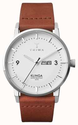 Triwa メンズスノークリンガブラウンクラシック KLST109-CL010212