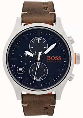 Hugo Boss Orange メンズアムステルダムブラウンレザー 1550021