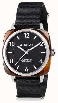 Briston ユニセックスのクラブマスターシックなブラックアセテートスチール製ナットストラップ 17536.SA.T.1.NB